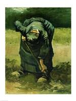 Framed Peasant Woman Digging, 1885
