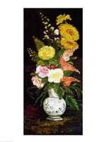 Framed Vase of Flowers, 1886