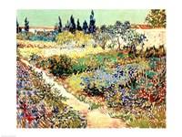 Framed Garden at Arles, 1888