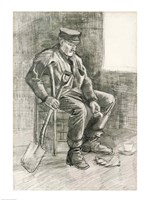 Framed Man with a Spade Resting, 1882