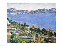 Framed L'Estaque, View of the Bay of Marseilles