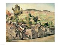 Framed Hillside in Provence