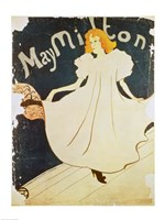 Framed May Milton, France, 1895