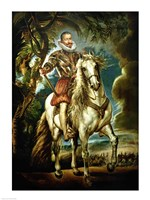 Framed Equestrian portrait of the Duke of Lerma