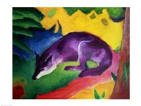 Framed Blue Fox, 1911