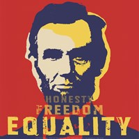 Framed Abraham Lincoln:  Honesty, Freedom, Equality