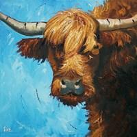 Framed Cow #301