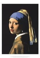 Framed Girl with a Pearl Earring