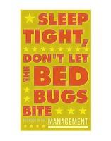 Framed Sleep Tight, Don't Let the Bedbugs Bite (green & orange)