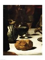 Framed Supper at Emmaus, Detail 1601 (bread)