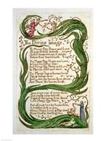 Framed Divine Image, from Songs of Innocence, 1789