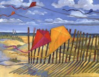 Framed Beach Kites Yellow - mini