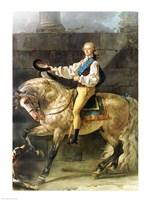 Framed Equestrian Portrait of Stanislas Kostka Potocki