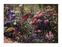 Framed Midsummer Day's Garden II