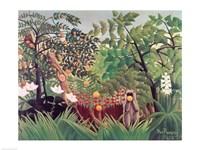 Framed Exotic Landscape, 1910