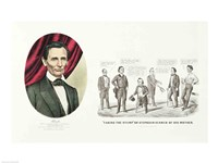 Framed Hon. Abraham Lincoln, 16th President of the United States, 1860