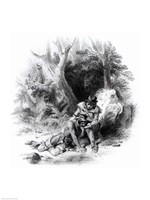 Framed Illustration from 'The Last of the Mohicans