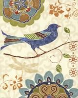 Framed Eastern Tales Birds I