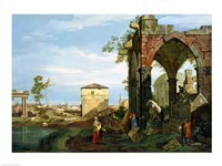 Framed Capriccio with Motifs from Padua