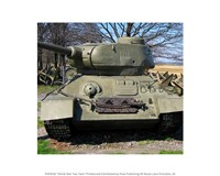 Framed World War Two Tank