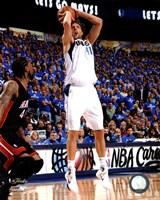 Framed Dirk Nowitzki Game 5 of the 2011 NBA Finals Action(#22)