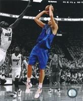 Framed Dirk Nowitzki Game 1 of the 2011 NBA Finals Spotlight Action