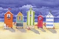 Framed Brighton Huts