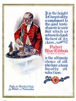 Framed Pabst Blue Ribbon Beer 1911