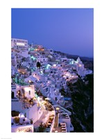Framed Night, Santorini, Thira (Fira), Cyclades Islands, Greece