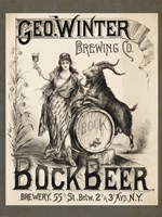 Framed Bock Beer Brewing Company