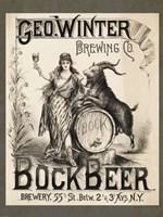 Framed Bock Beer Brewing Company
