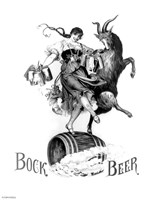 Framed Bock Beer Dance