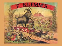 Framed F. Klems Bock Beer