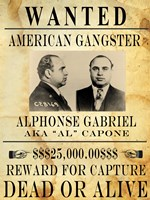 Framed Al Capone Wanted Poster
