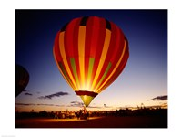 Framed Low angle view of a hot air balloon taking off, Albuquerque, New Mexico, USA