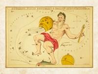 Framed Aquarius, Pices Australis & Ballon Aerostatique Constellation
