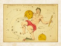 Framed Aquarius, Pices Australis & Ballon Aerostatique Constellation