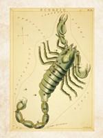 Framed Scorpio Zodiac Sign
