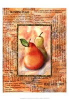 Framed Blushing Pears