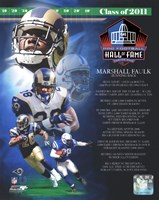 Framed Marshall Faulk 2011 Hall of Fame Composite