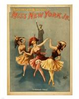 Framed Miss New York Jr. - A Midnight Frolic
