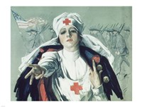 Framed Red Cross Nurse