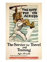 Framed Navy Recruitment Poster