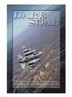 Framed Dare to Soar Affirmation Poster, USAF