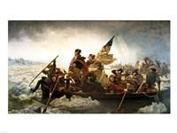Framed Washington Crossing the Delaware by Emanuel Leutze