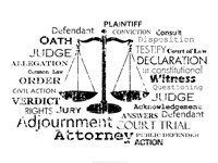 Framed Legal Words