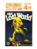 Framed Lost World Film Poster, 1925