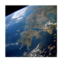 Framed Greece from Space