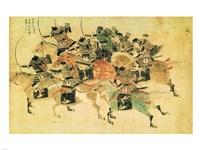 Framed Samurais on horseback