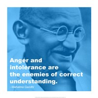 Framed Gandhi - Intolerance Quote